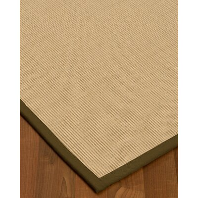 Vannatta Border Hand-Woven Wool Beige/Malt Area Rug Rug Size: Rectangle 9 x 12, Rug Pad Included: Yes