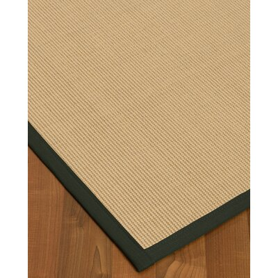 Vannatta Border Hand-Woven Wool Blend Beige/Black Area Rug Rug Size: Rectangle 6 x 9, Rug Pad Included: Yes