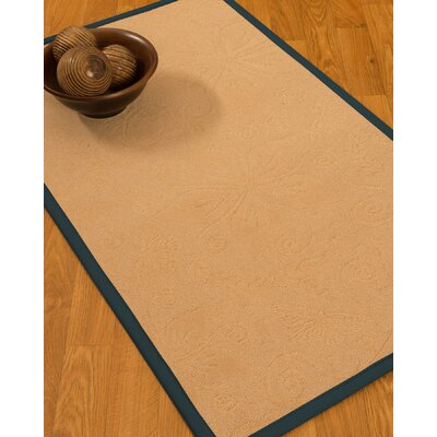 Vanmeter Border Hand-Woven Wool Beige/Marine Area Rug Rug Size: Rectangle 8 x 10, Rug Pad Included: Yes