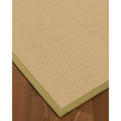 Vannatta Border Hand-Woven Wool Ivory/Green Area Rug Rug Size: Rectangle 9 x 12, Rug Pad Included: Yes