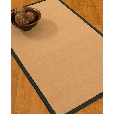 Vanmeter Border Hand-Woven Wool Beige/Metal Area Rug Rug Size: Rectangle 4 x 6, Rug Pad Included: Yes