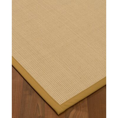 Vannatta Border Hand-Woven Wool Beige/Ivory Area Rug Rug Size: Rectangle 6 x 9, Rug Pad Included: Yes