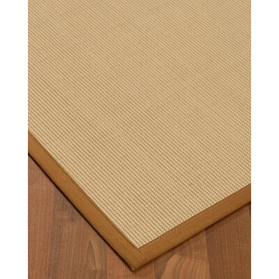 Vannatta Border Hand-Woven Wool Beige/Sienna Area Rug Rug Size: Rectangle 5 x 8, Rug Pad Included: Yes