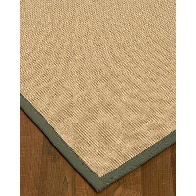 Vannatta Border Hand-Woven Wool Beige/Stone Area Rug Rug Size: Rectangle 8 x 10, Rug Pad Included: Yes