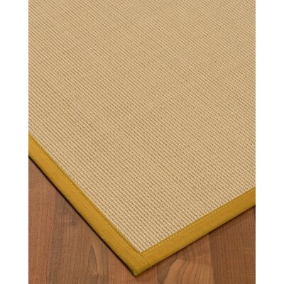 Vannatta Border Hand-Woven Wool Beige/Tan Area Rug Rug Size: Rectangle 9 x 12, Rug Pad Included: Yes