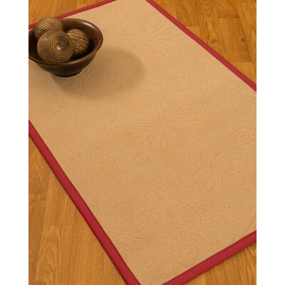 Vanmeter Border Hand-Woven Wool Beige/Red Area Rug Rug Size: Rectangle 3 x 5, Rug Pad Included: No