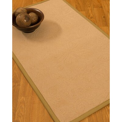 Vanmeter Border Hand-Woven Wool Beige/Sage Area Rug Rug Size: Rectangle 5 x 8, Rug Pad Included: Yes