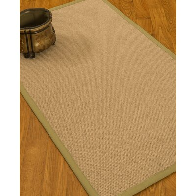 Chavira Border Hand-Woven Wool Beige/Natural Area Rug Rug Size: Rectangle 6 x 9, Rug Pad Included: Yes