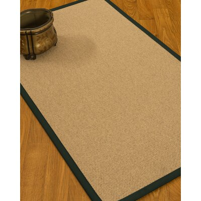 Chavira Border Hand-Woven Wool Beige/Onyx Area Rug Rug Size: Rectangle 5 x 8, Rug Pad Included: Yes