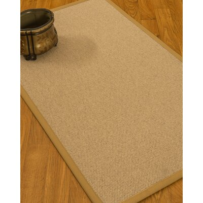 Chavira Border Hand-Woven Wool Beige/Sage Area Rug Rug Size: Rectangle 4 x 6, Rug Pad Included: Yes