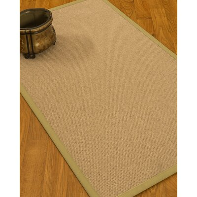 Chavira Border Hand-Woven Wool Beige/Sand Area Rug Rug Size: Rectangle 9 x 12, Rug Pad Included: Yes