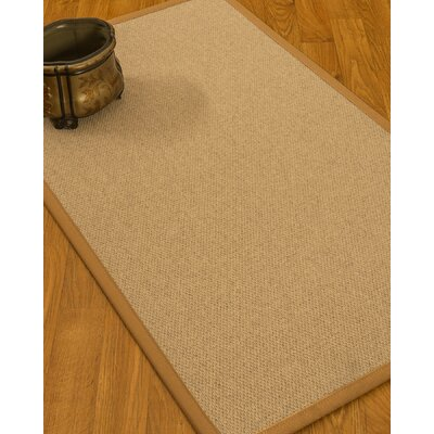 Chavira Border Hand-Woven Wool Beige/Sienna Area Rug Rug Size: Rectangle 5 x 8, Rug Pad Included: Yes