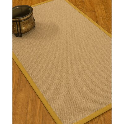 Chavira Border Hand-Woven Wool Beige/Tan Area Rug Rug Size: Rectangle 4 x 6, Rug Pad Included: Yes