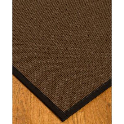 Heider Border Hand-Woven Brown/Black Area Rug Rug Size: Rectangle 8 x 10, Rug Pad Included: Yes