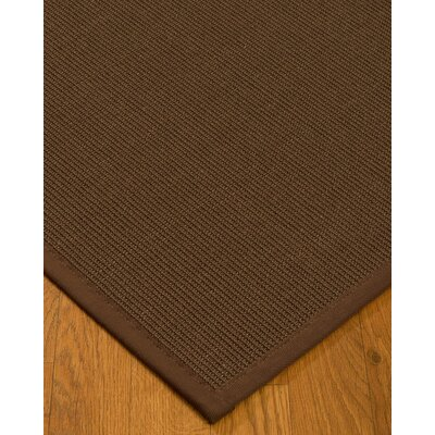 Heider Border Hand-Woven Brown Area Rug Rug Size: Rectangle 4 x 6, Rug Pad Included: Yes