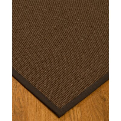 Heider Border Hand-Woven Brown/Fudge Area Rug Rug Size: Rectangle 5 x 8, Rug Pad Included: Yes