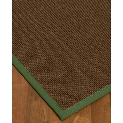 Heider Border Hand-Woven Brown/Green Area Rug Rug Size: Rectangle 8 x 10, Rug Pad Included: Yes
