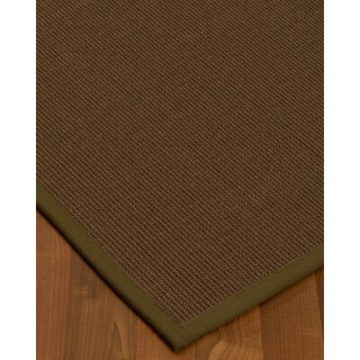 Heider Border Hand-Woven Brown/Malt Area Rug Rug Size: Rectangle 3 x 5, Rug Pad Included: No
