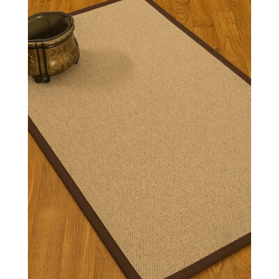 Chavira Border Hand-Woven Wool Beige/Brown Area Rug Rug Size: Rectangle 8 x 10, Rug Pad Included: Yes