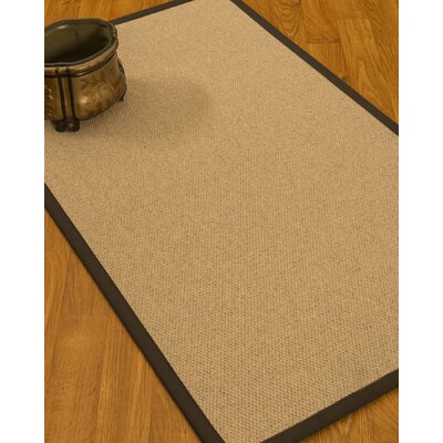 Chavira Border Hand-Woven Wool Beige/Fudge Area Rug Rug Size: Rectangle 5 x 8, Rug Pad Included: Yes