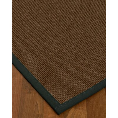 Heider Border Hand-Woven Brown/Onyx Area Rug Rug Size: Rectangle 9 x 12, Rug Pad Included: Yes