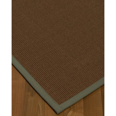 Heider Border Hand-Woven Brown/Gray Area Rug Rug Size: Rectangle 9 x 12, Rug Pad Included: Yes