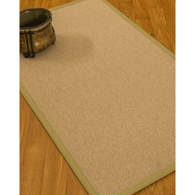 Chavira Border Hand-Woven Wool Beige/Khaki Area Rug Rug Size: Rectangle 5 x 8, Rug Pad Included: Yes