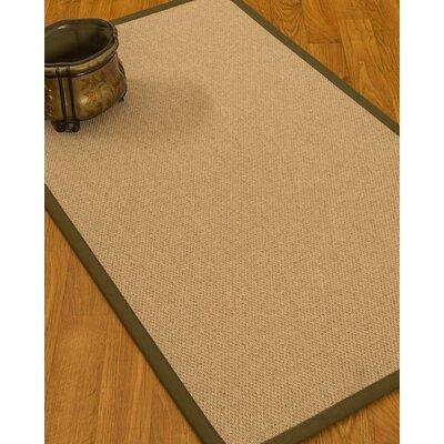 Chavira Border Hand-Woven Wool Beige/Malt Area Rug