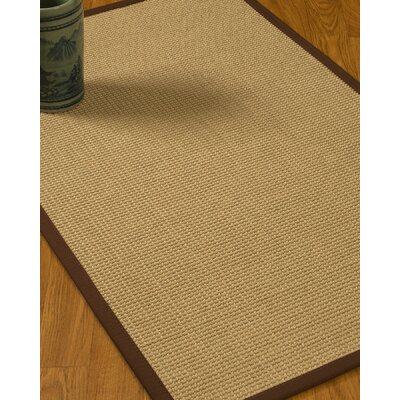 Jacobs Border Hand-Woven Beige/Brown Area Rug Rug Size: Rectangle 8 x 10, Rug Pad Included: Yes