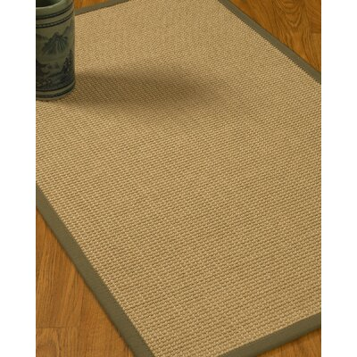 Jacobs Border Hand-Woven Beige/Fossil Area Rug Rug Size: Rectangle 12 x 15, Rug Pad Included: Yes