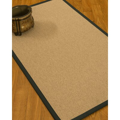 Chavira Border Hand-Woven Wool Beige/Metal Area Rug Rug Size: Rectangle 9 x 12, Rug Pad Included: Yes