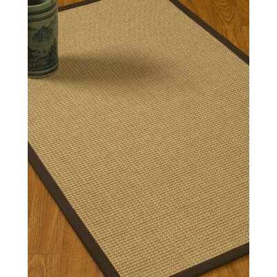 Jacobs Border Hand-Woven Beige/Fudge Area Rug Rug Size: Rectangle 4 x 6, Rug Pad Included: Yes