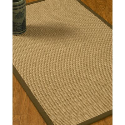 Jacobs Border Hand-Woven Beige/Malt Area Rug with Free Rug Pad