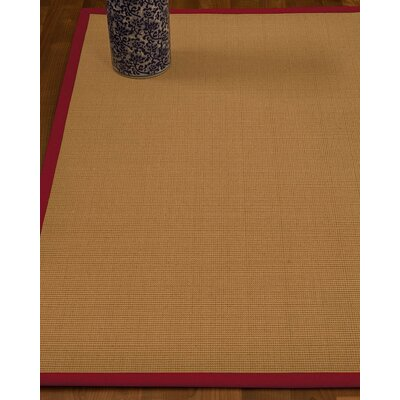 Magruder Border Hand-Woven Wool Blend Beige/Red Area Rug Rug Size: Rectangle 4 x 6, Rug Pad Included: Yes