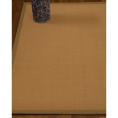 Magruder Border Hand-Woven Wool Blend Beige/Sage Area Rug Rug Size: Rectangle 9 x 12, Rug Pad Included: Yes