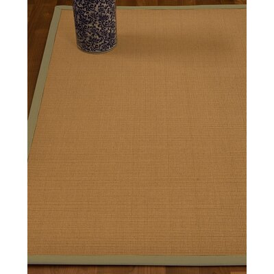 Magruder Border Hand-Woven Wool Beige/Sand Area Rug Rug Size: Rectangle 8 x 10, Rug Pad Included: Yes
