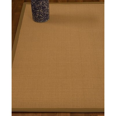 Magruder Border Hand-Woven Wool Beige/Sienna Area Rug Rug Size: Rectangle 9 x 12, Rug Pad Included: Yes