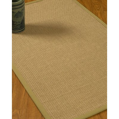 Jacobs Border Hand-Woven Beige/Natural Area Rug Rug Size: Rectangle 9 x 12, Rug Pad Included: Yes