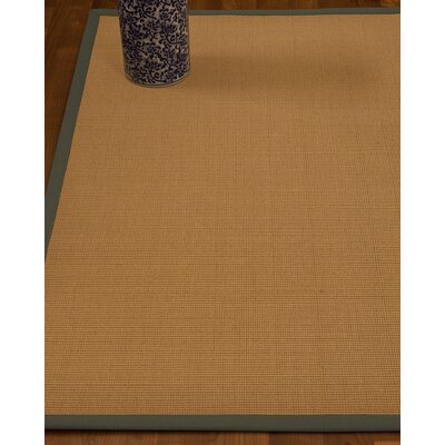Magruder Border Hand-Woven Wool Beige/Stone Area Rug Rug Size: Rectangle 9 x 12, Rug Pad Included: Yes