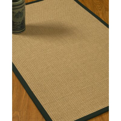 Jacobs Border Hand-Woven Beige/Onyx Area Rug Rug Size: Rectangle 6 x 9, Rug Pad Included: Yes