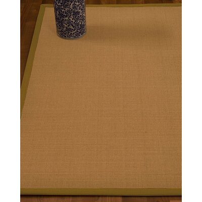 Magruder Border Hand-Woven Wool Beige/Green Area Rug Rug Size: Rectangle 6 x 9, Rug Pad Included: Yes