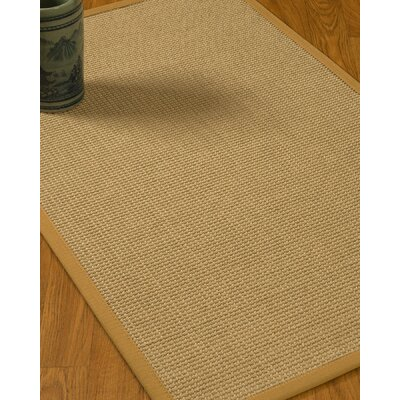 Jacobs Border Hand-Woven Beige/Sage Area Rug Rug Size: Rectangle 6 x 9, Rug Pad Included: Yes