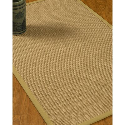 Jacobs Border Hand-Woven Beige/Sand Area Rug Rug Size: Rectangle 6 x 9, Rug Pad Included: Yes