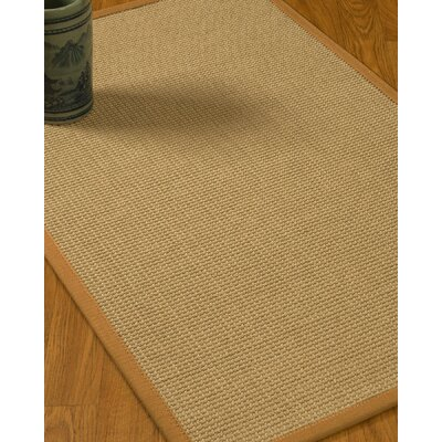 Jacobs Border Hand-Woven Beige/Sienna Area Rug Rug Size: Rectangle 4 x 6, Rug Pad Included: Yes
