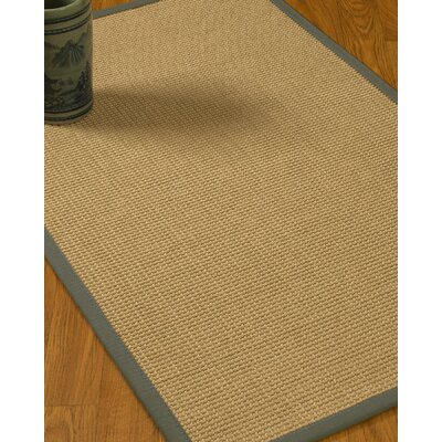 Jacobs Border Hand-Woven Beige/Stone Area Rug Rug Size: Rectangle 6 x 9, Rug Pad Included: Yes