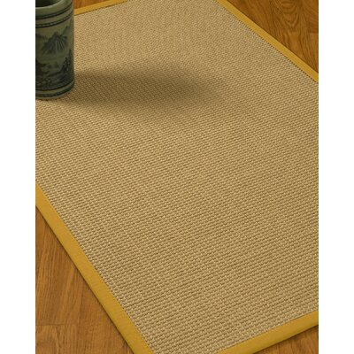 Jacobs Border Hand-Woven Beige/Tan Area Rug Rug Size: Rectangle 6 x 9, Rug Pad Included: Yes