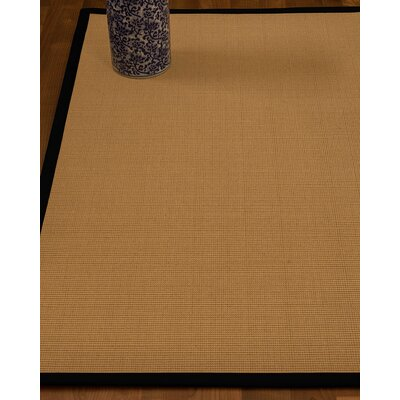 Magruder Border Hand-Woven Wool Blend Beige/Black Area Rug Rug Size: Rectangle 9 x 12, Rug Pad Included: Yes