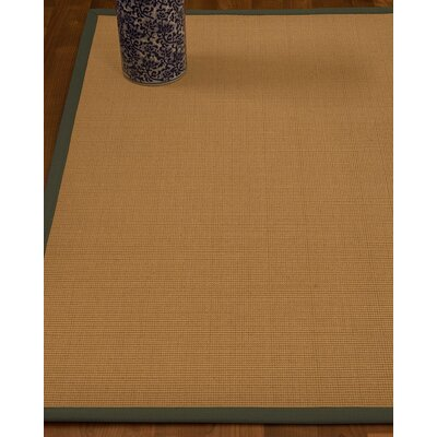 Magruder Border Hand-Woven Wool Beige/Fossil Area Rug Rug Size: Rectangle 8 x 10, Rug Pad Included: Yes