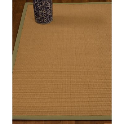 Magruder Border Hand-Woven Wool Beige/Khaki Area Rug Rug Size: Rectangle 9 x 12, Rug Pad Included: Yes