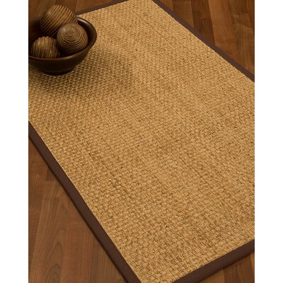 Caster Border Hand-Woven Beige/Brown Area Rug Rug Size: Rectangle 5 x 8, Rug Pad Included: Yes